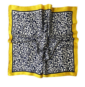 Leopard Print With Border Square Scarf