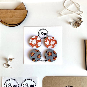 Ivy & Ginger Retro Earrings (2 pairs)