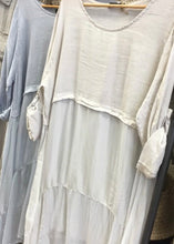 Fenella - Tiered Linen & Silk Dress