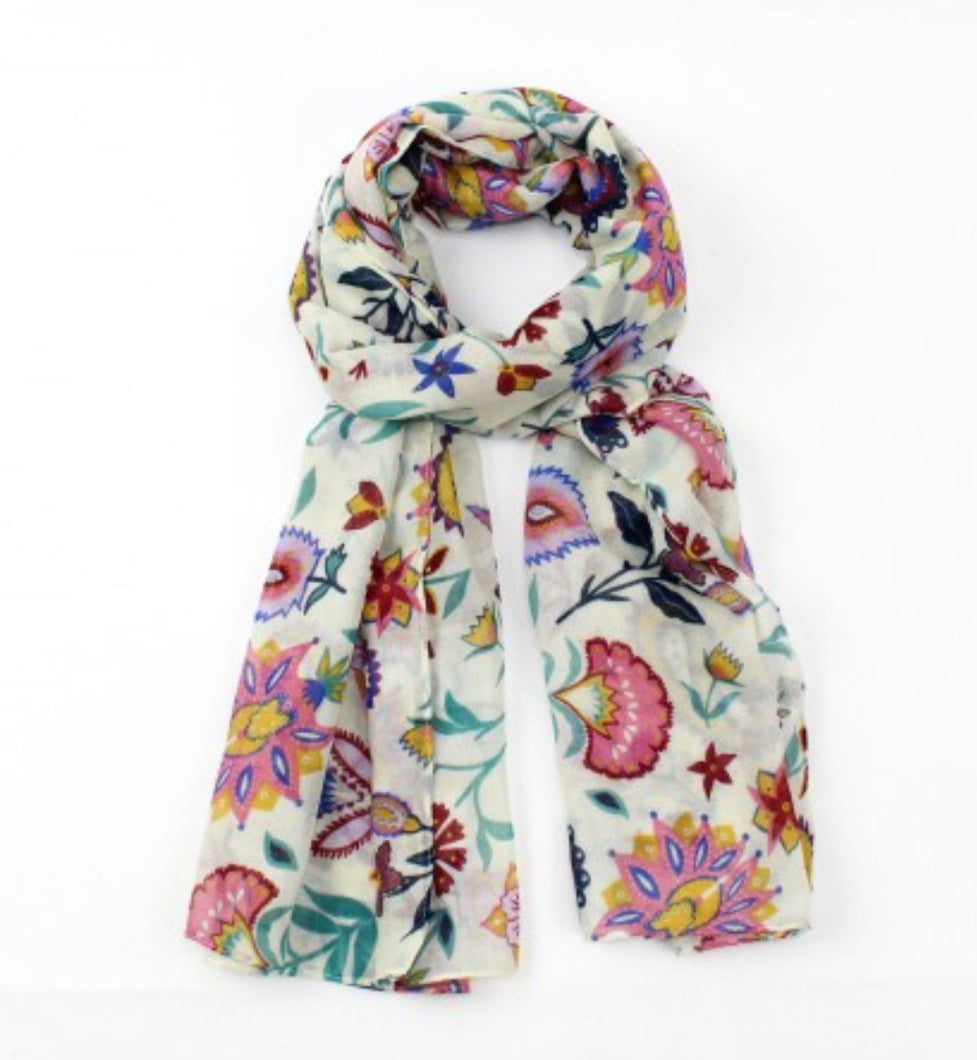 Festival Bohemian Cream Scarf - Sands Boutique clothing and gifts