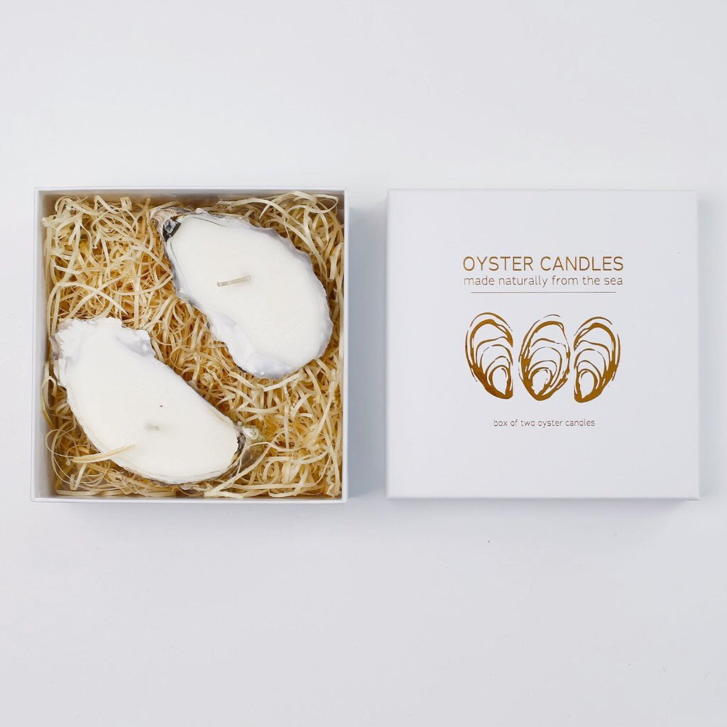 Liga Oyster Candle 2 box - Sands Boutique clothing and gifts