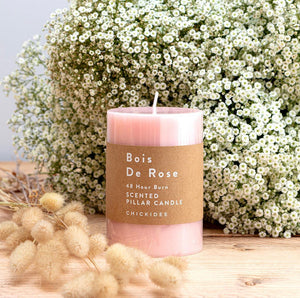 Bois De Rose Pillar Candle Medium - Sands Boutique clothing and gifts