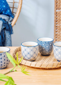 Sashiko Pattern Cups Set (4)