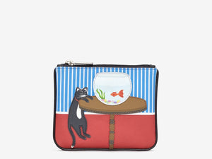 Yoshi - Cat & Fish Zip Top Purse