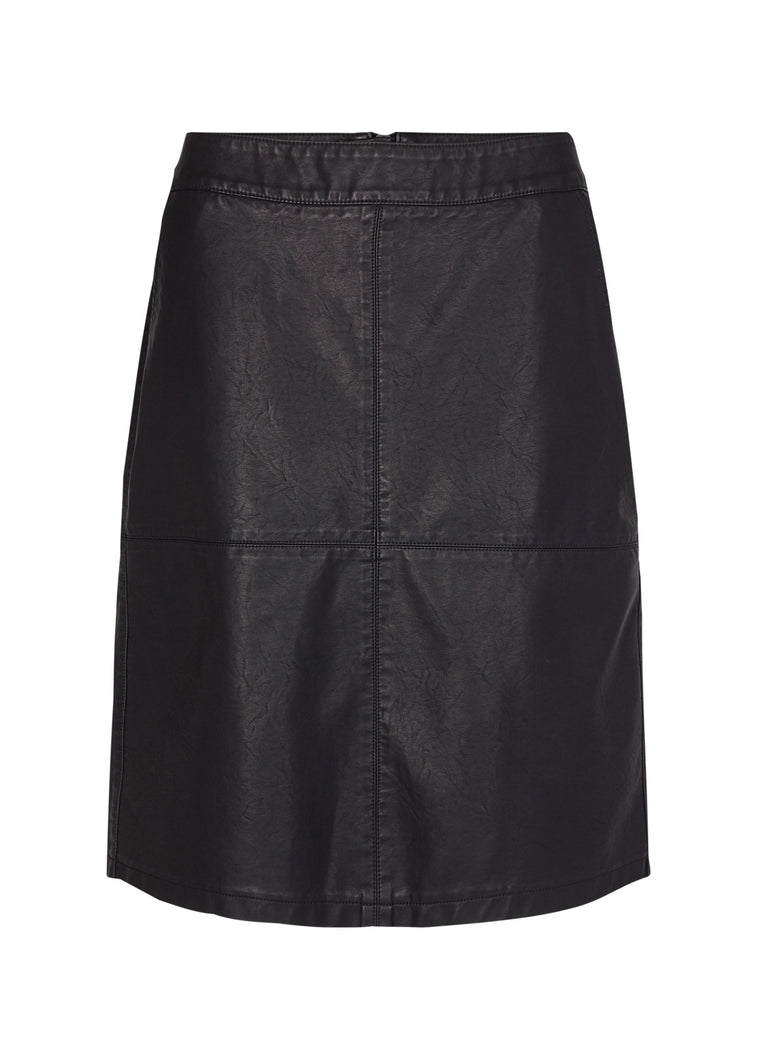 Soyaconcept - Gunilla Vegan Leather Skirt in Black