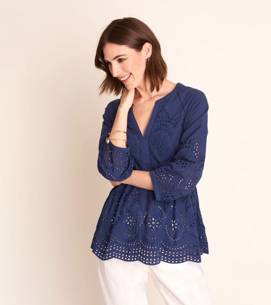 Hatley Hope Tunic - Navy Eyelet