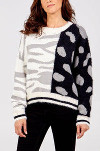 Sands Mixed Animal Print Jumper