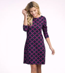 Hatley Zoe Dress - Fushia Trellis - Sands Boutique clothing and gifts