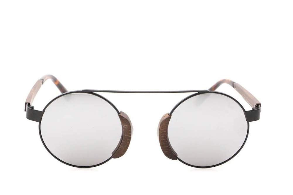 Swole Panda Bamboo Morpheus Sunglasses SILVER / SILVER LENSES - Sands Boutique clothing and gifts