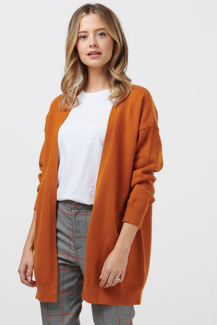 Sugarhill Brighton Paulie Bold Coloured Pumpkin Cardigan - Sands Boutique clothing and gifts