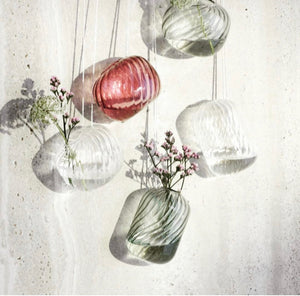 Broste Helly MouthBlown Glass Hanging Vase - Clear