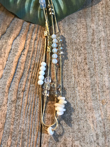 Envy Multi-strand Gold & Stone Long Necklace - Sands Boutique clothing and gifts
