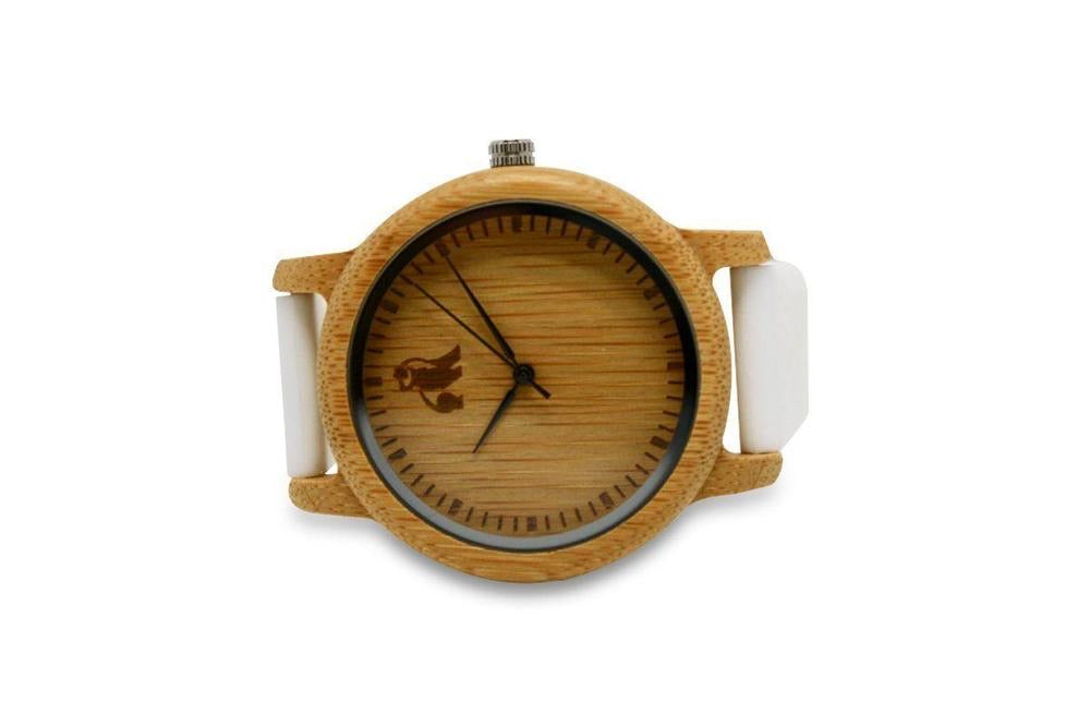 Swole Panda Minimalist Bamboo White Watch - Sands Boutique clothing and gifts