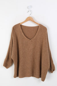 Camel Mohair Mix Sweater - Sands Boutique clothing and gifts