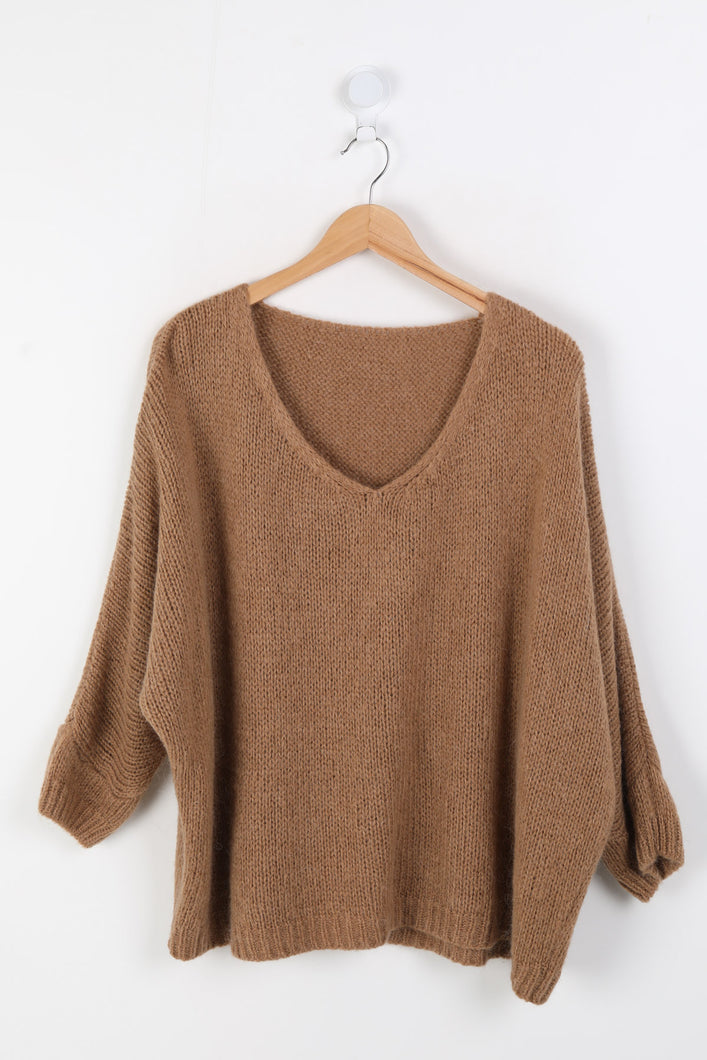 Camel Mohair Mix Sweater