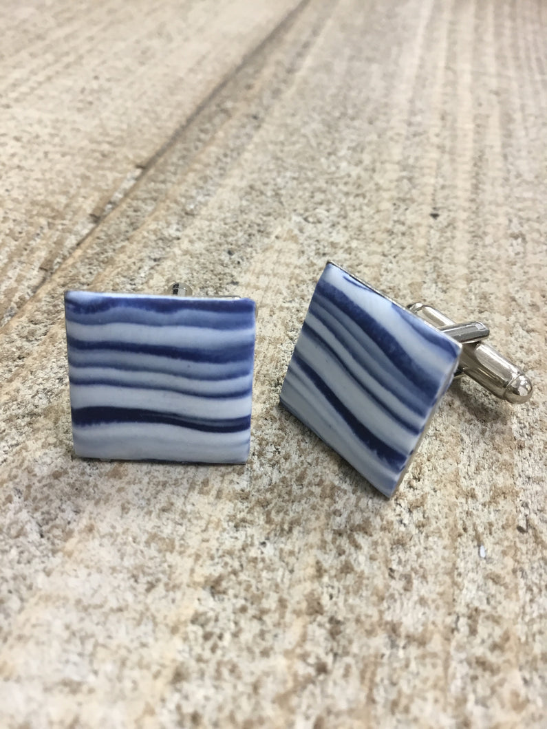 Wild Reef - Blues & Whites / Cufflinks