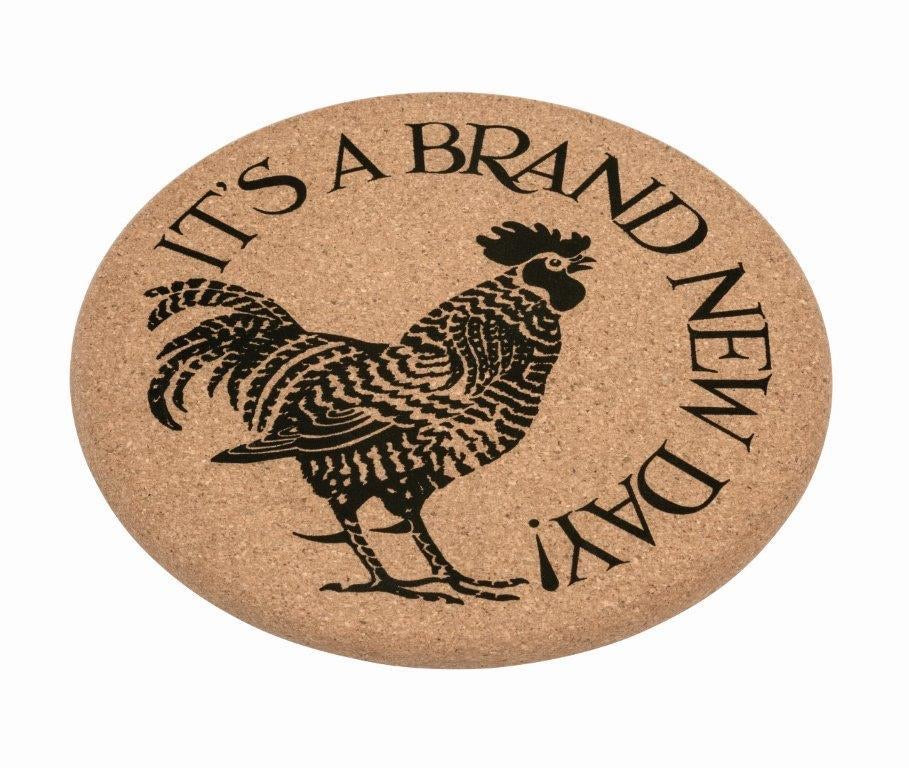 Emma Bridgewater Black Toast 'Chicken) Sustainable Cork Mat - Sands Boutique clothing and gifts