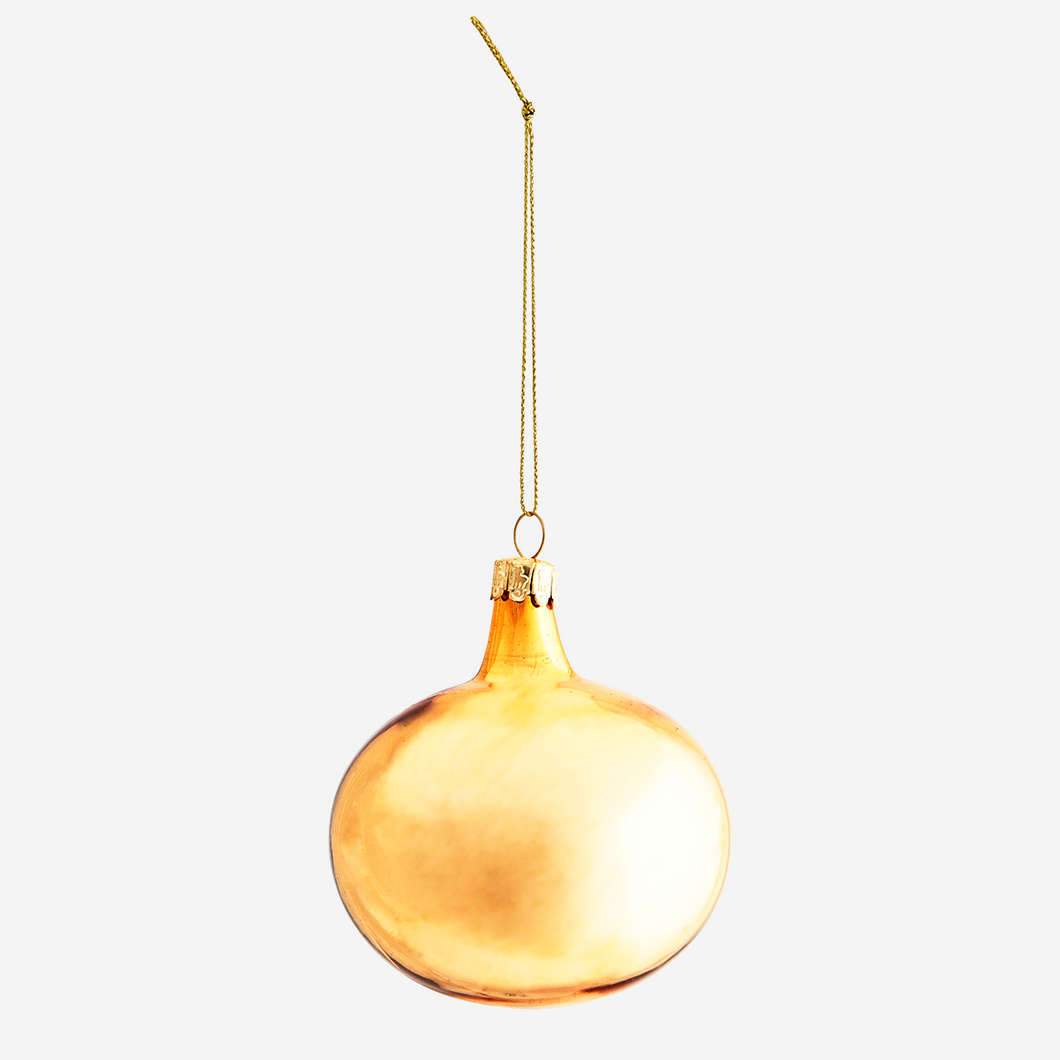 Madam Stoltz Gold Hanging Glass Bauble - Sands Boutique clothing and gifts