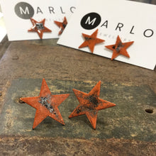Marlo St Ives - Star Studs in Orange Mottled