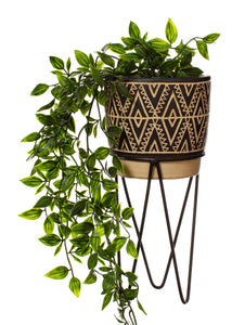 Sass and Belle Nomads Planter With Wire Stand