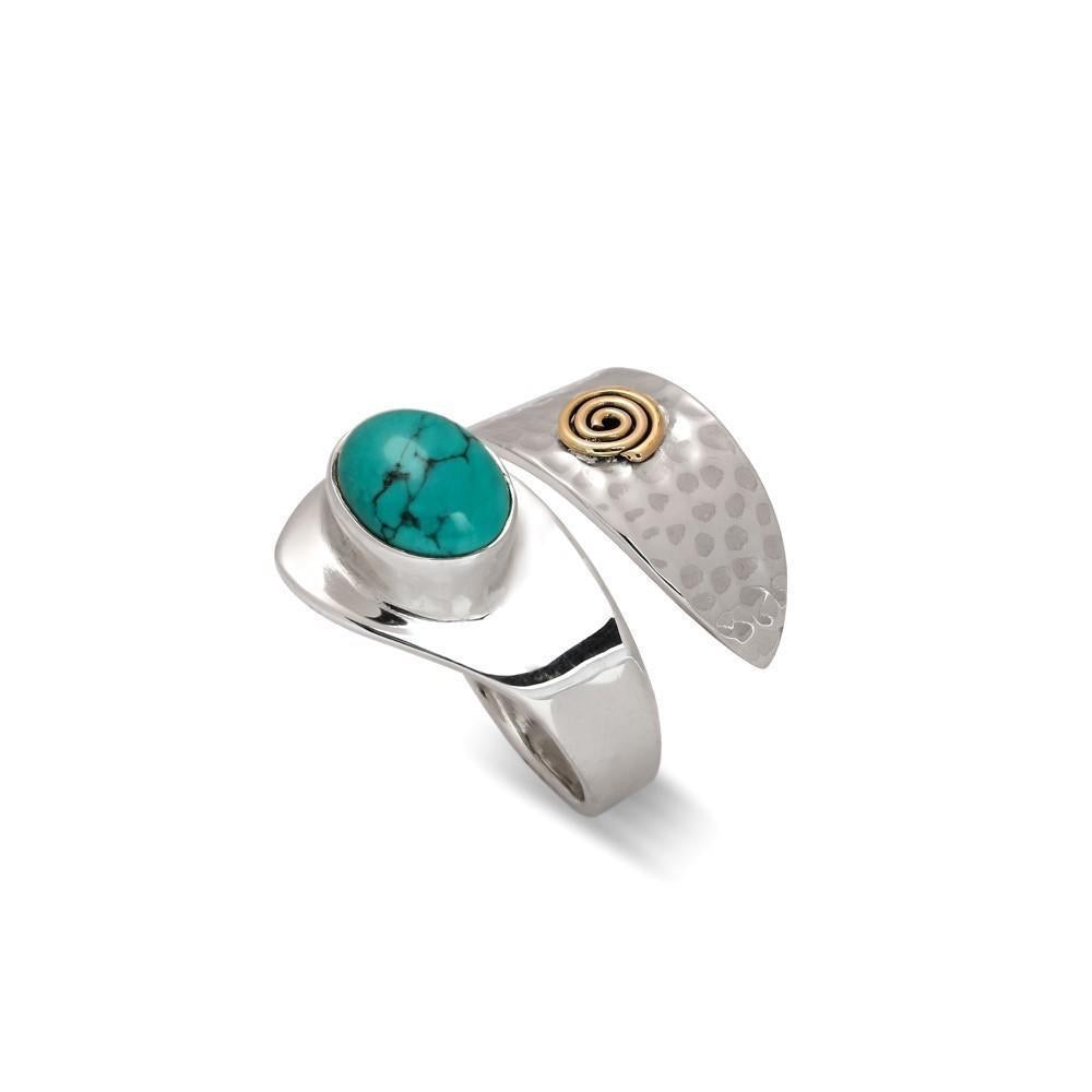 Sands Silver Turquoise Swirl Ring - Sands Boutique clothing and gifts