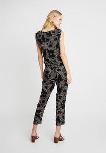 Soya Concept Venus 9 Black Printed Jumpsuit - Sands Boutique clothing and gifts