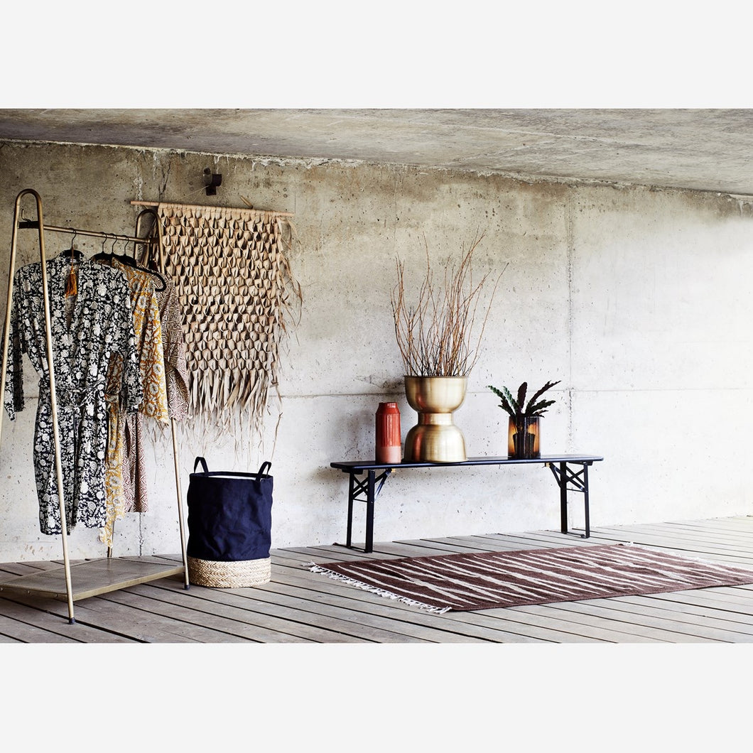 Madam Stoltz Brown and Cream Jute Rug - Sands Boutique clothing and gifts