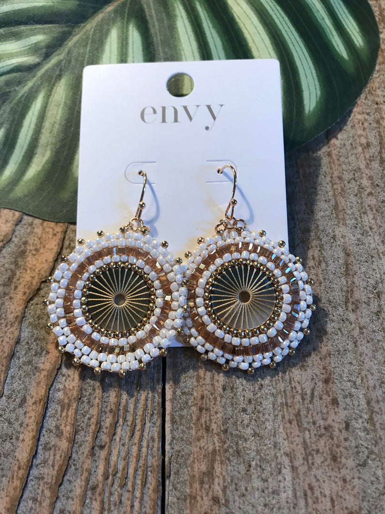 Envy Boho Cream Beaded Earring - Sands Boutique clothing and gifts