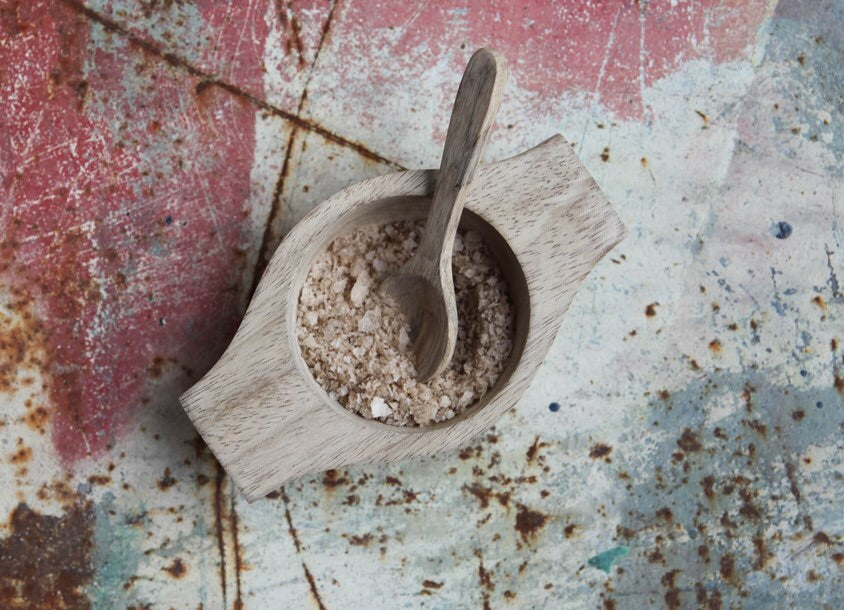 Nkuku Sustainable Mango Wood Bowl & Spoon - Sands Boutique clothing and gifts