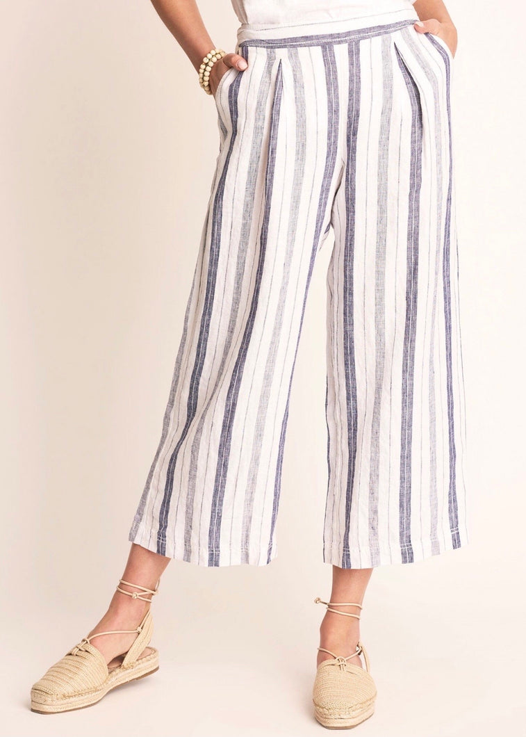 Hatley Cotton Linen Culottes - Patriot Blue
