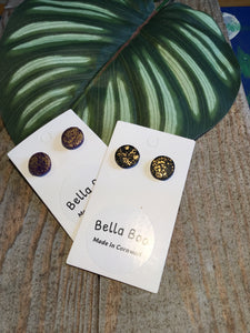 Bella Boo Large Gold Dot Studs Earrings - Sands Boutique clothing and gifts