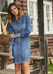 Hatley Denim Shirt Dress