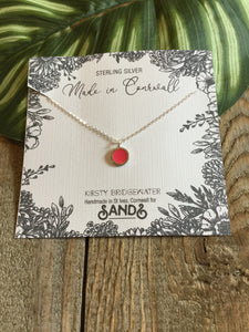 Kirsty Bridgewater - 925 Silver Resin Necklace - Sands Boutique clothing and gifts