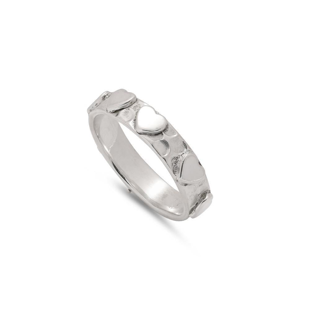 Sands Silver Hammered Heart Ring - Sands Boutique clothing and gifts