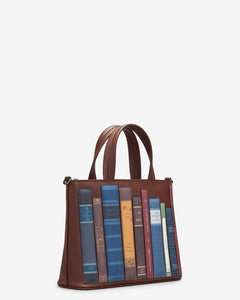 Yoshi Bookworm Brown Leather Multiway Grab Bag - Sands Boutique clothing and gifts