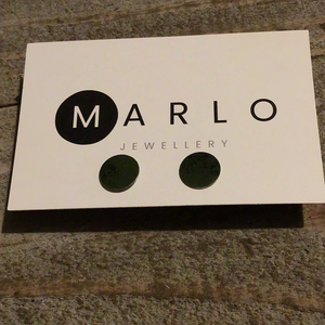 Marlo St Ives - Circle Studs in Sage