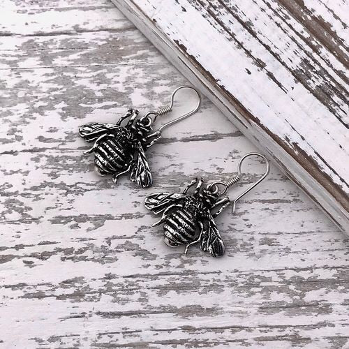 Silver Bee Earrings - Sands Boutique clothing and gifts