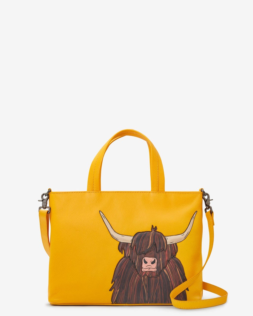 Yoshi Leather Highland Cow Grab Bag