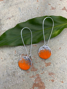 Marlo St.Ives - Orange Full Circle Earrings