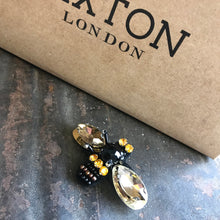 Sixton London Leopard Luxe sock box with Bumblebee pin - Sands Boutique clothing and gifts