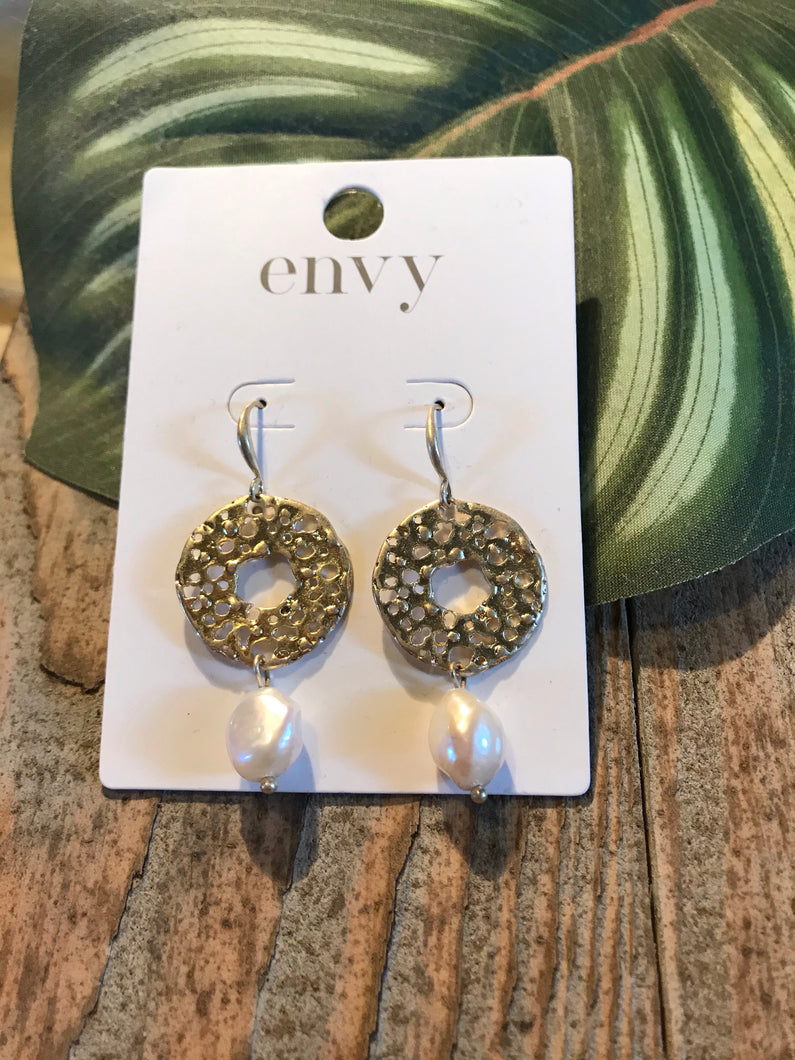 Envy Gold and Pearl Drop Earrings - Sands Boutique clothing and gifts