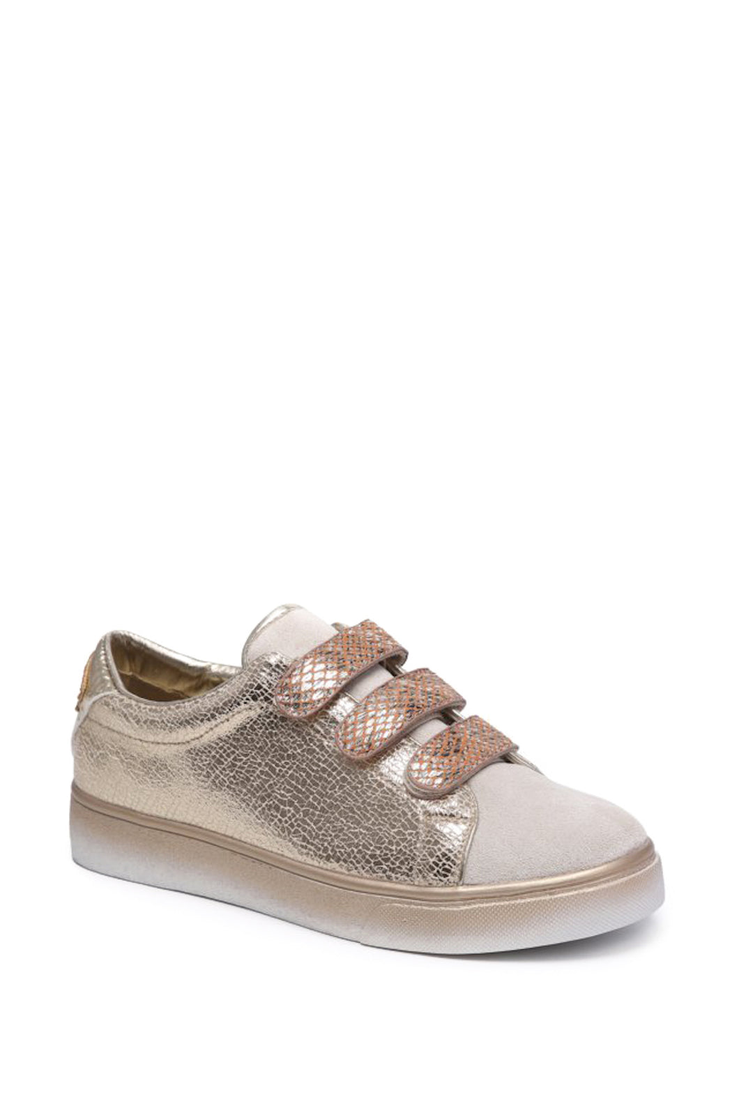 Lucile Crackle Effect Trainers
