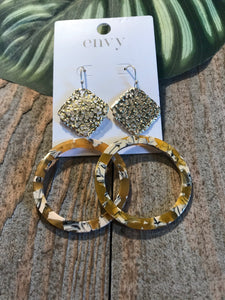 Envy Gold And Multi Coloured Hoop Earrings - Sands Boutique clothing and gifts