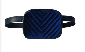PUNCH Mila Velvet Bum Bag Black - Sands Boutique clothing and gifts