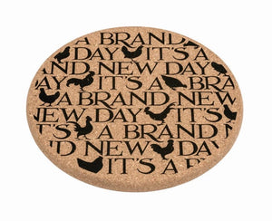 Emma Bridgewater Black Toast 'New Day' Sustainable Cork Mat - Sands Boutique clothing and gifts
