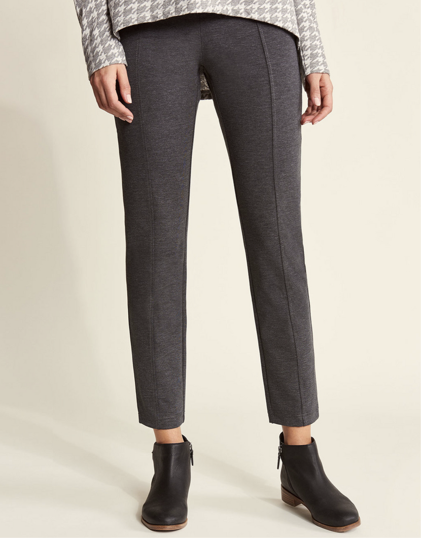 Hatley Kate Ponte Pants - Essential Charcoal