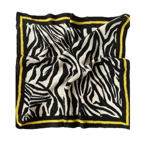 Zebra Print With Border Square Scarf