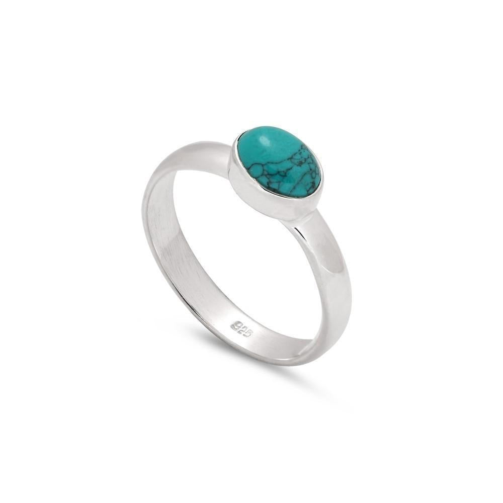 Sands Silver Turquoise Polished Ring - Sands Boutique clothing and gifts