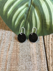 Marlo St Ives - Enamelled Drop Disc Earrings in Black - Sands Boutique clothing and gifts
