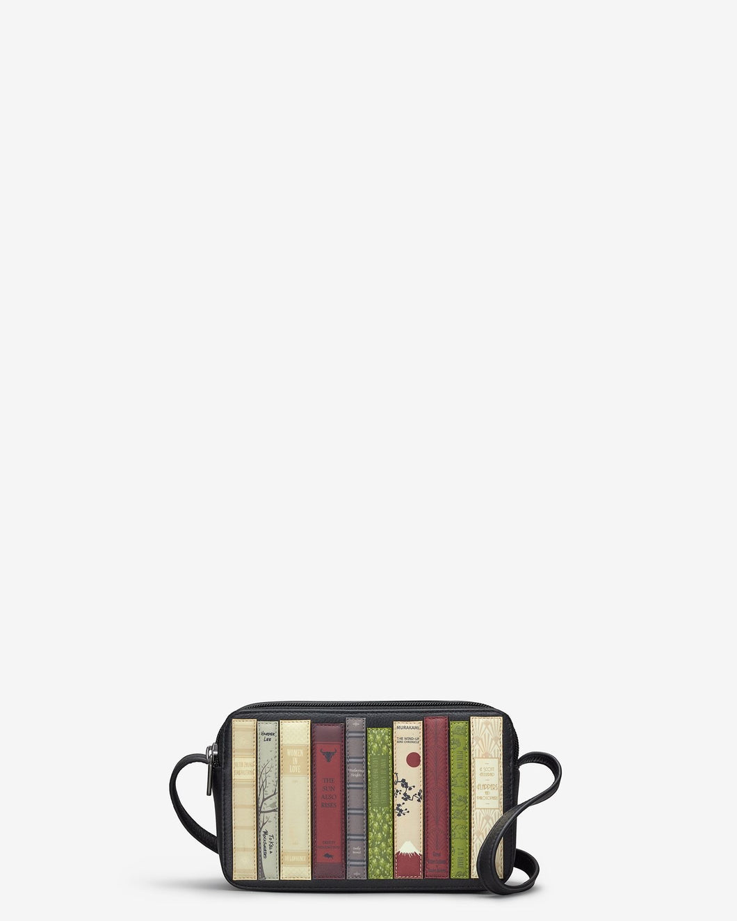 Yoshi Bookworm Black Leather Porter Cross Body Bag - Sands Boutique clothing and gifts